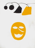Derrier le Mirroir, no. 221: Masque Jaune Collectable Print by Alexander Calder
