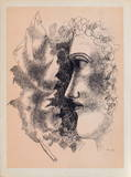 Tete et Feuille Samlarprint av Fernand Leger