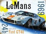 Le Mans 24h 1969 Plaque en métal