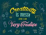 Creativity is Messy Plakietka emaliowana