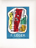 AF 1953 - Galerie Louis Carré Collectable Print by Fernand Leger