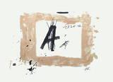 Composition A Láminas coleccionables por Antoni Tapies