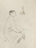 Dessins : Lucien Guitry et Jeanne Granier Collectable Print by Henri de Toulouse-Lautrec