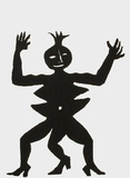 Derrier le Mirroir, no. 212: Critter III Samletrykk av Alexander Calder