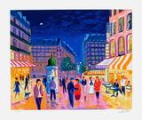 Soir de Paris Serigraph by Jean-claude Picot