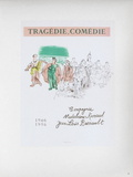 AF 1956 - Tragédie, Comédie Collectable Print by Raoul Dufy