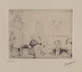 060 - Tentation de Saint-Antoine Limited Edition by Jules Pascin