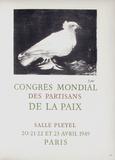 AF 1949 - Congrès Mondial des Partisans de la Paix Reproduction pour collectionneurs par Pablo Picasso