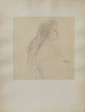 Dessins : Profil de femme assise Collectable Print by Henri de Toulouse-Lautrec