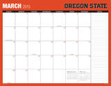 Oregon State University - 2015 16 Month Desk Blotter Calendars