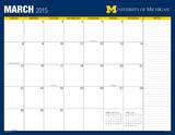 University of Michigan - 2015 16 Month Desk Blotter Calendars