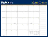 University of Notre Dame - 2015 16 Month Desk Blotter Kalendere