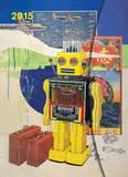 Robot Art - 2015 Large Magneto Calendar Calendars
