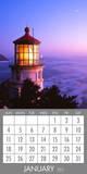 Lighthouses - 2015 Magnetic Calendar Calendars