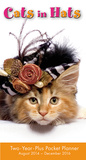 Cats in Hats - 2015 Checkbook/2-Year Pocket Planner Calendar Calendars