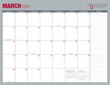 Washington State University - 2015 16 Month Desk Blotter Calendars