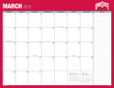 Ohio State University - 2015 16 Month Desk Blotter Calendars