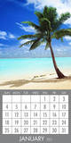 Tropical Beaches - 2015 Magnetic Calendar Calendars