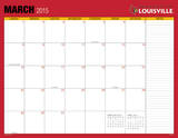 University of Lousiville - 2015 16 Month Desk Blotter Calendars