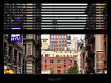 Window View with Venetian Blinds: View NYU Flag Photographic Print by Philippe Hugonnard