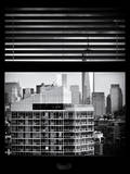 Window View with Venetian Blinds: Cityscape Manhattan with One World Trade Center (1 WTC) Photographic Print by Philippe Hugonnard