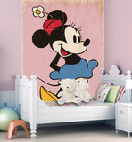 Vintage Style Minnie Mouse Deco Wallpaper Mural Wallpaper Mural