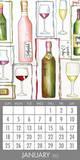 Wine - 2015 Magnetic Calendar Calendars