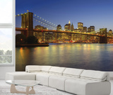 Bright Sky at Night Newyork Skyline Wallpaper Mural Wallpaper Mural