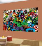 Marvel Characters Deco Wallpaper Mural - Duvar Resimleri