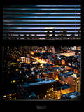Window View with Venetian Blinds: Midtown Manhattan Photographic Print by Philippe Hugonnard