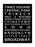 NYC Signs - New York Districts - Manhattan, New York City, USA Giclee Print by Philippe Hugonnard