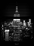 Window View with Venetian Blinds: the Empire State Building and One World Trade Center Photographic Print by Philippe Hugonnard