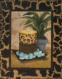 Golden Jungle Bath I Prints by Tiffany Hakimipour
