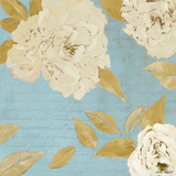 Scripted Poetic Peonies I Poster by Lanie Loreth