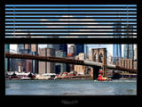 Window View with Venetian Blinds: New York City Skylinewith One World Trade Center and East River Photographic Print by Philippe Hugonnard