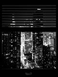 Window View with Venetian Blinds: 42nd Street - Theater District and Times Square Photographic Print by Philippe Hugonnard