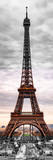 Eiffel Tower, Paris, France - Black and White and Spot Color Photography Photographic Print by Philippe Hugonnard