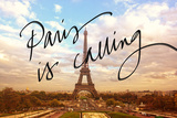 Paris is Calling Prints by Emily Navas