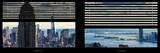 Window View with Venetian Blinds: Manhattan with Empire State Building and One World Trade Center Photographic Print by Philippe Hugonnard