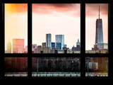 Skyline Manhattan with the One World Trade Center (1WTC) at Sunset - New York, USA Photographic Print by Philippe Hugonnard