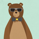 Hipster Bear II Prints by  SD Graphics Studio