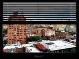 Window View with Venetian Blinds: Buildings of Chelsea with One World Trade Center Photographic Print by Philippe Hugonnard