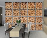 Light Industrial Look Log Wall Frame Giant Wallpaper Mural Papier peint