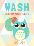 Wash behind your Ears Print by  SD Graphics Studio