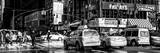 Panoramic View - Urban Street Scene with NYC Yellow Taxis / Cabs in Winter Photographic Print by Philippe Hugonnard