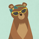 Hipster Bear I Posters by  SD Graphics Studio