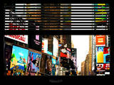 Window View with Venetian Blinds: Times Square Photographic Print by Philippe Hugonnard
