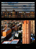 Window View with Venetian Blinds: 42nd Street and Times Square Photographic Print by Philippe Hugonnard