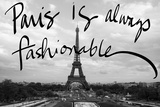 Fashionable Paris Print by Emily Navas