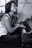 Johnny Depp Piano Poster Posters